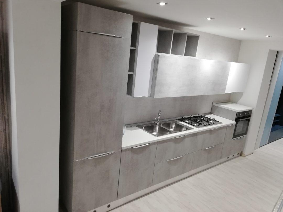 Cucina cemento 390 abitare arredamenti for Abitare arredamenti giugliano
